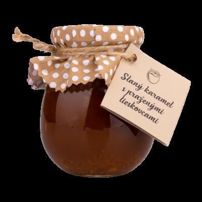 Slaný karamel s praženými lieskovcami